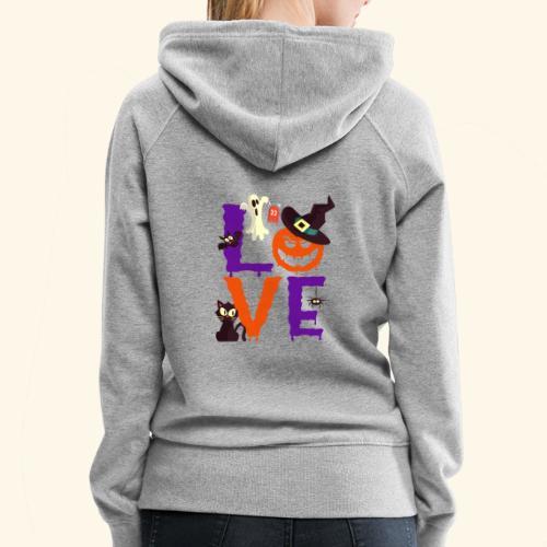 Love Halloween Funny Design - Women's Premium Hoodie