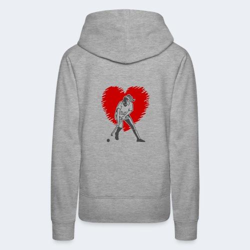 I love Hockey - Women's Premium Hoodie