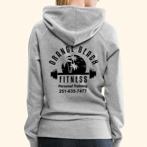 Orange Beach Fitness Black Logo - Women's Premium Hoodie