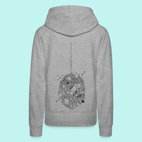 planet hanging from a string - Women's Premium Hoodie