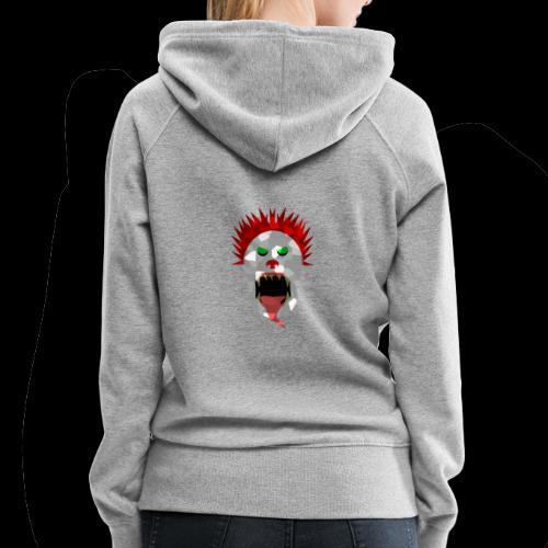 creepy clown Halloween design - Women's Premium Hoodie