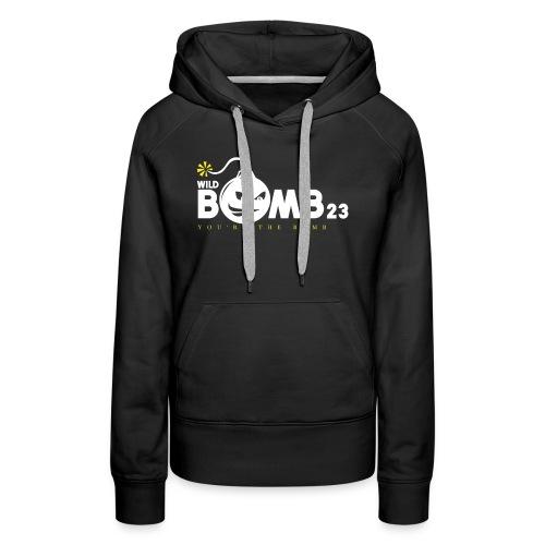 WildBomb23 White - Women's Premium Hoodie