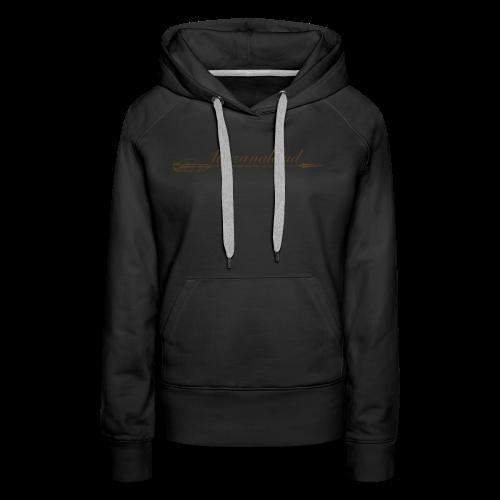 tarzanaland logo custom brown design - Women's Premium Hoodie