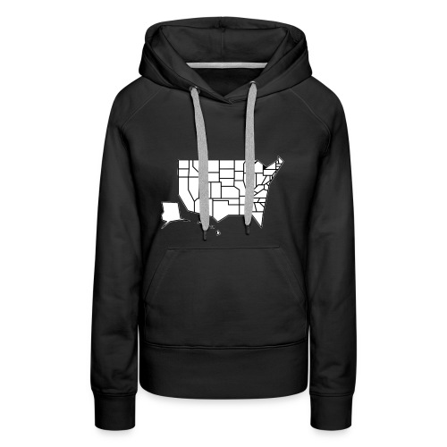 Straight Map - Women's Premium Hoodie