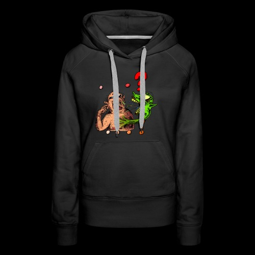 Album cover '...!' for the band ...? - Women's Premium Hoodie