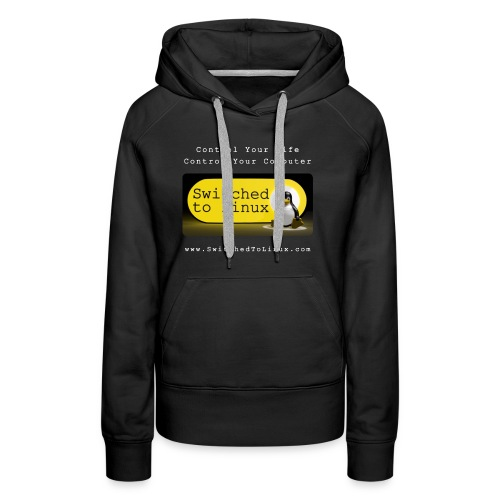 Switched To Linux Logo and White Text - Women's Premium Hoodie