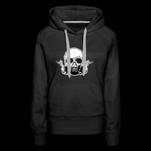 WarBoy Smokin' Skull - Women's Premium Hoodie
