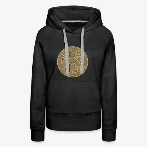 Peace Symbol Khaki - Women's Premium Hoodie