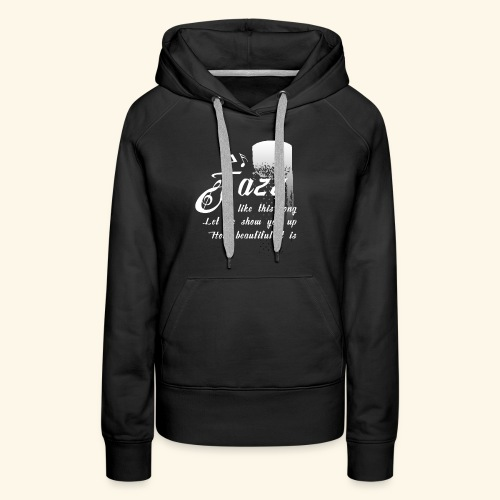 Funky Jazz Music Design - Women's Premium Hoodie