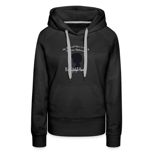 Natural Life Style - Black & Light Pink - Women's Premium Hoodie