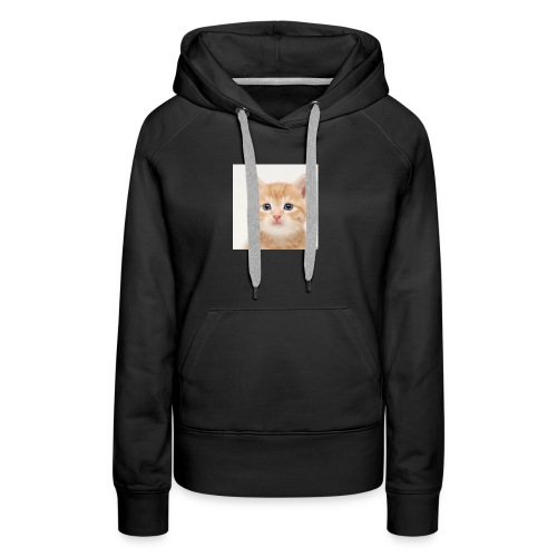 the great cute cat shirt - Women's Premium Hoodie