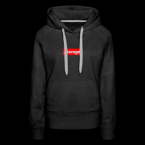 Average Supreme Logo Mockup - Women's Premium Hoodie