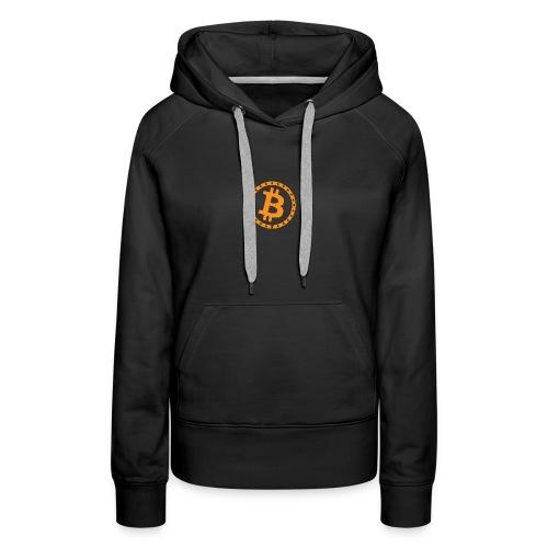 Bitcoin with star ring - Women's Premium Hoodie
