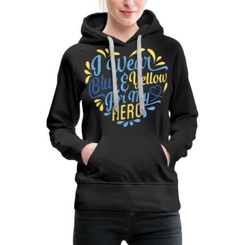 Blue & Yellow - Women's Premium Hoodie