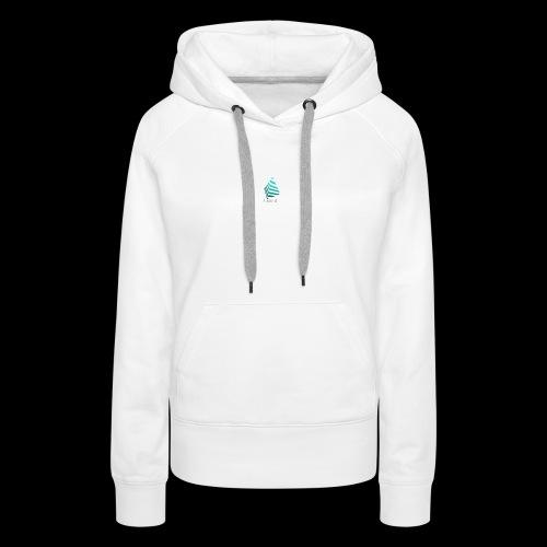 1 and 0 logo design - Women's Premium Hoodie