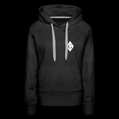 Glenester Black on White Diamond - Women's Premium Hoodie