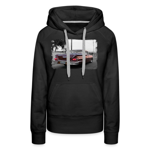 wine red car - Women's Premium Hoodie