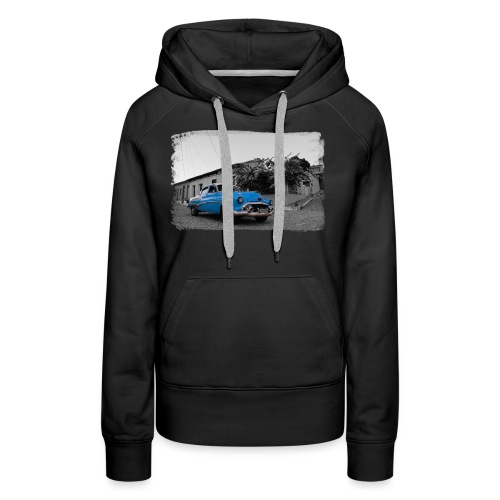 light blue car - Women's Premium Hoodie