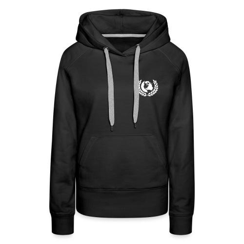 world logo white - Women's Premium Hoodie