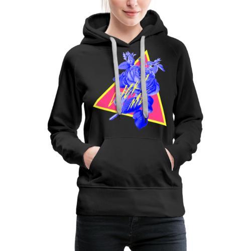 neon flower - Women's Premium Hoodie