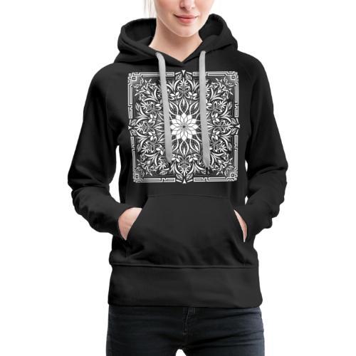 Psychedelic Mandala Geometric Illustration - Women's Premium Hoodie