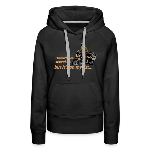 Dualsport it's on my list (for darkcolored shirts) - Women's Premium Hoodie