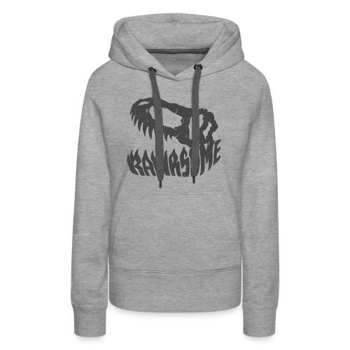 RAWRsome T Rex Skull by Beanie Draws - Women's Premium Hoodie