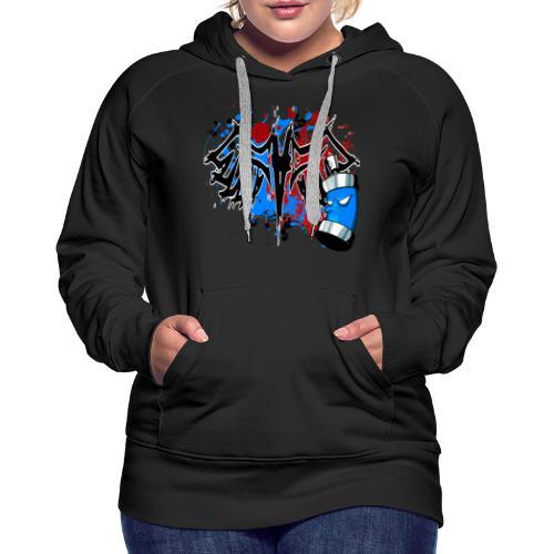 Graffitied Angel - Women's Premium Hoodie