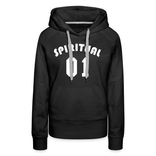 Spiritual 01 - Team Design (White Letters) - Women's Premium Hoodie