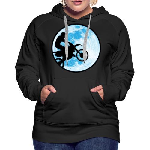 Motocross Motorcycle Blue Moon - Women's Premium Hoodie