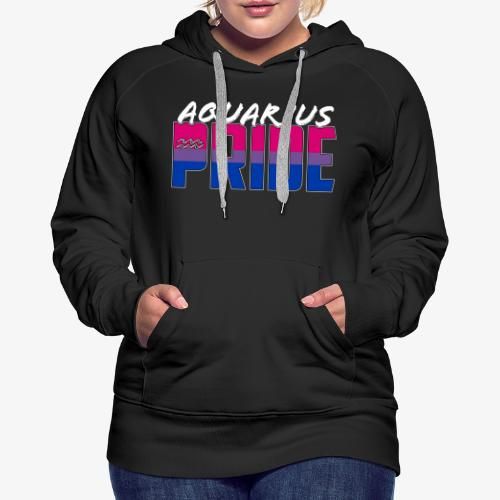 Aquarius Bisexual Pride Flag Zodiac Sign - Women's Premium Hoodie