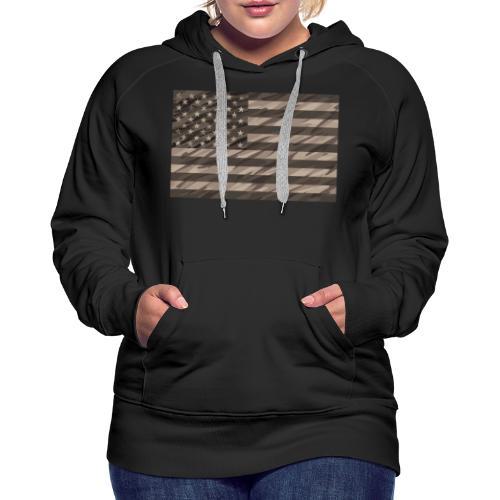 desert cammo flag t - Women's Premium Hoodie