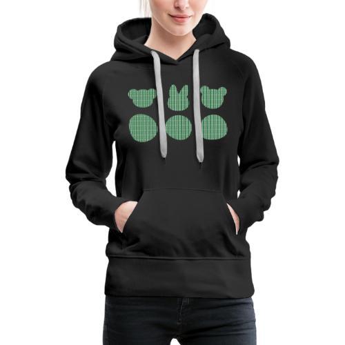 Three Smizdas in green and white - Women's Premium Hoodie