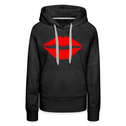 Red Lips Kisses - Women's Premium Hoodie