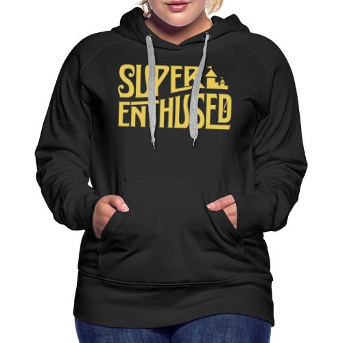 Super Enthused Castle yellow - Women's Premium Hoodie