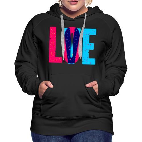 love design pattern - Women's Premium Hoodie