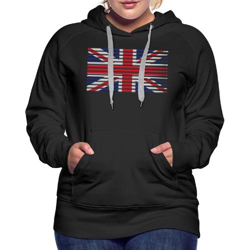 United Kingdom drummer drum stick flag - Women's Premium Hoodie