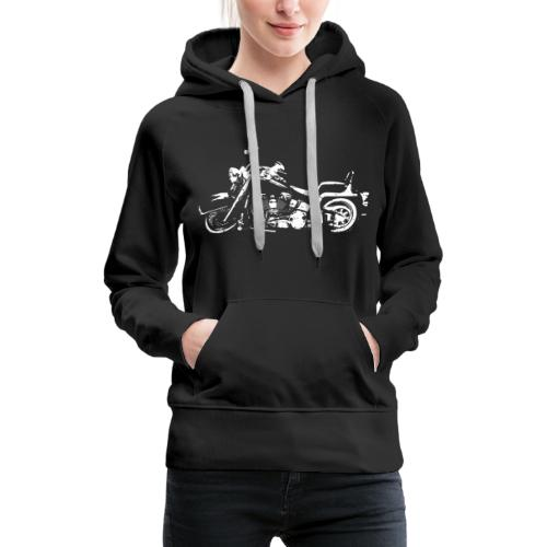 Classic American Motorcycle Abstract - Women's Premium Hoodie