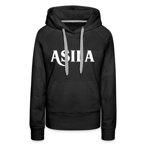 Asila Logo A4 RGB White - Women's Premium Hoodie