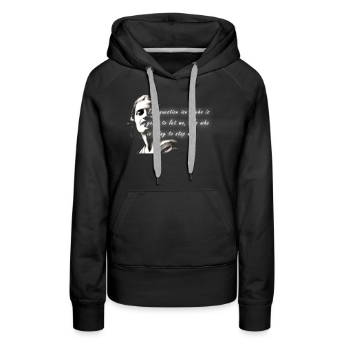 Stop me Ayn Rand on black background - Women's Premium Hoodie