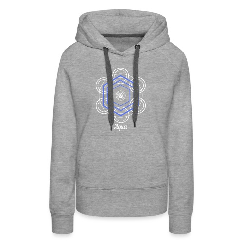 Aqua Water Element Alchemy Design - Women's Premium Hoodie