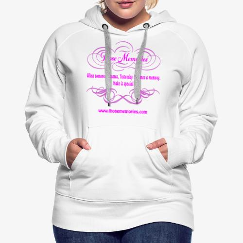 Those Memories logo - Women's Premium Hoodie
