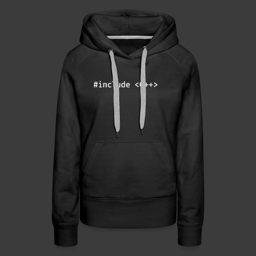 Include Original (Dark Background) - Women's Premium Hoodie