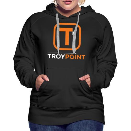 TROYPOINT Orange Logo - Women's Premium Hoodie