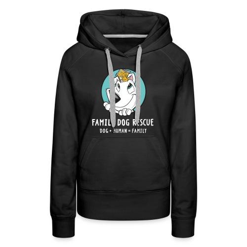 fdr logo (white tagline) - Women's Premium Hoodie