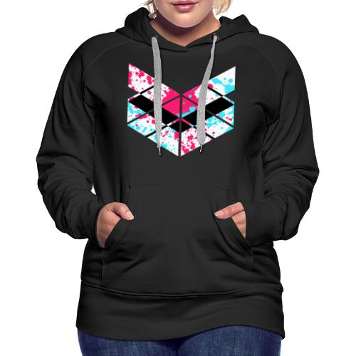 SaMPL and HoLD Paint Splatter Logo - Women's Premium Hoodie