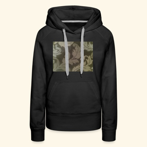 Swirling leaves white and grey style. - Women's Premium Hoodie