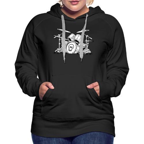 Drum Set Cartoon - Women's Premium Hoodie