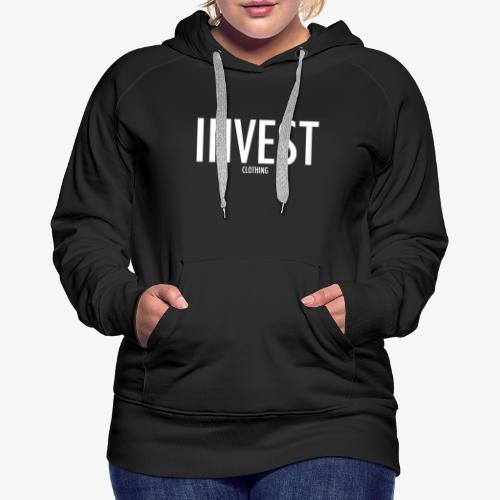 Invest Clothing White Text - Women's Premium Hoodie