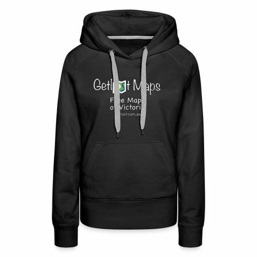 Getlost Maps Full White - Women's Premium Hoodie